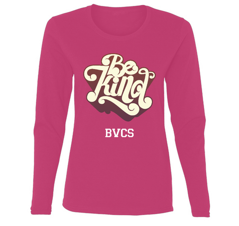 BVCS Be Kind Retro Design Ladies' Long Sleeve