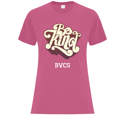BVCS Be Kind Retro Design Ladies' T-Shirt