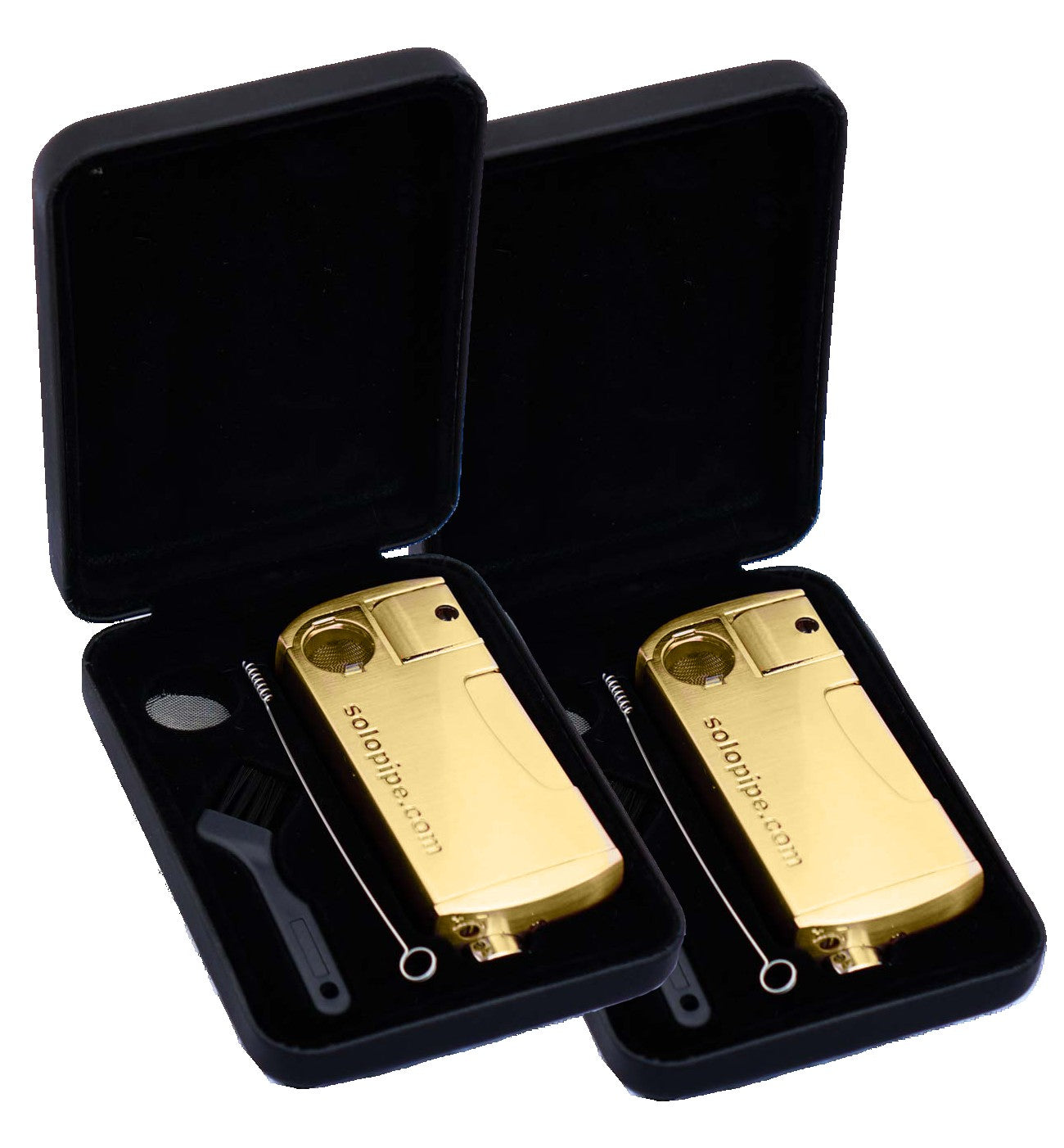 2 Pack The Original Refillable SoloPipe® - Opulent Gold freeshipping - solopipe
