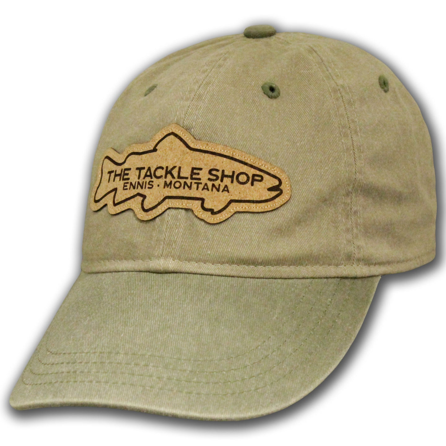 Ouray Tackle Shop Two Tone Canyon Cap (Khaki/Conifer)