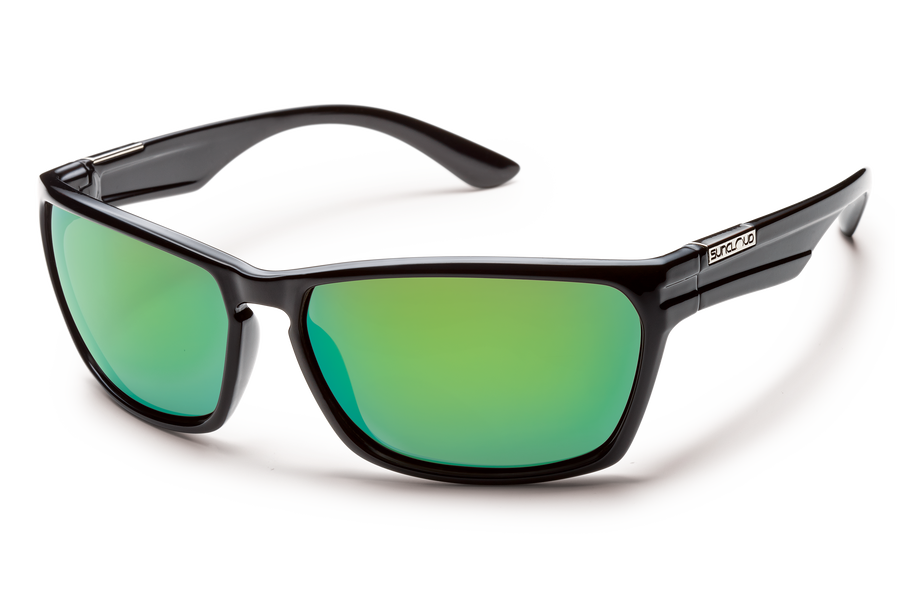 Suncloud Cutout (Black Frame/ Polarized Green Mirror Lens)