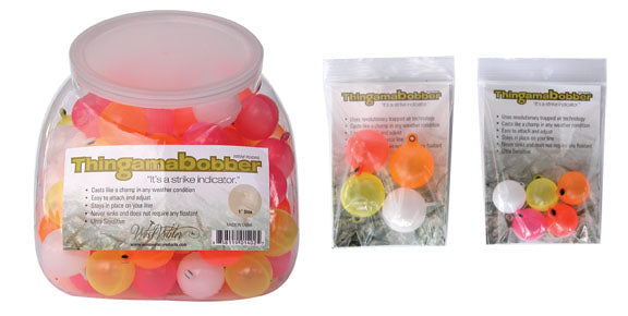 Thing a ma Bobber 3/4 inch 5 pack Assorted Colors