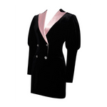 Load image into Gallery viewer, ''Lolita'' – Fashion Velvet Blazer Dress/Top