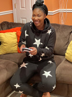 Load image into Gallery viewer, ''Nom-Star'' – Star Print Hoodie and Jogger Set