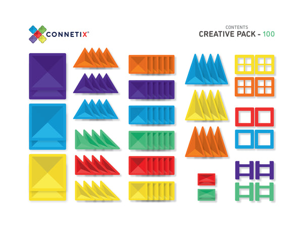 Connetix Magnetic Tiles 100 pcs.