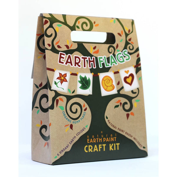 Canvas Flag Natural Earth Paint Craft Kit