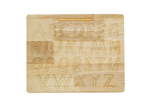Capital letter writing board