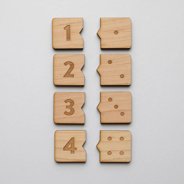 Gladfolk Wooden Number Match Puzzle