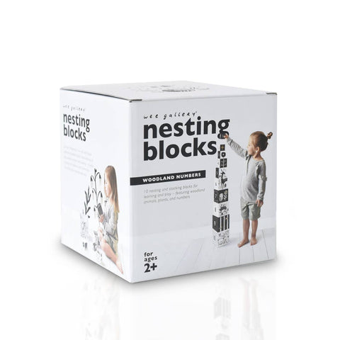 Wee Gallery Nesting Number Blocks Black and White