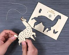 Alpaca DIY Wooden Ornament Kit