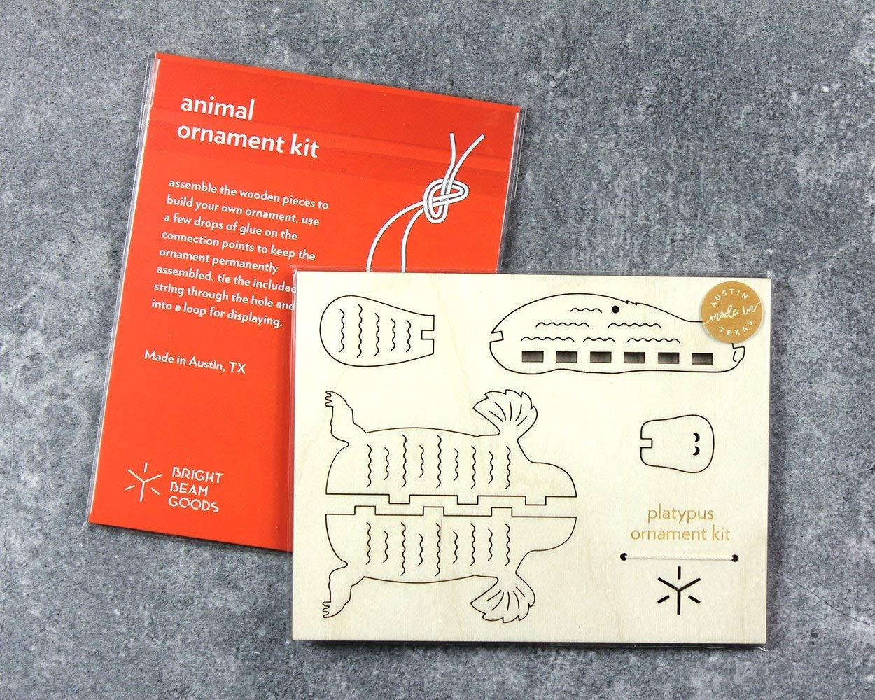 Platypus DIY Wooden Ornament Kit