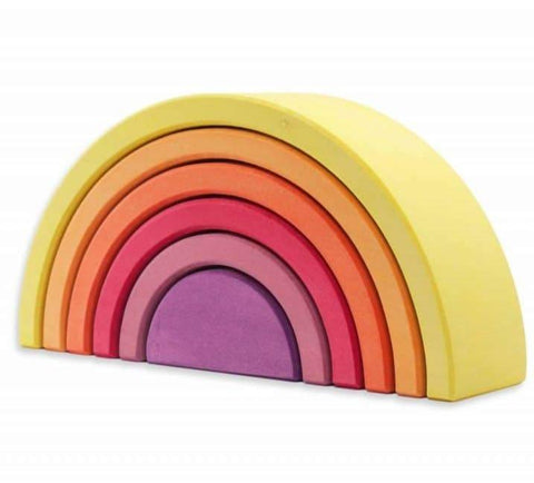 Ocamora 6 Piece Wooden Rainbow Stacker (YELLOW)