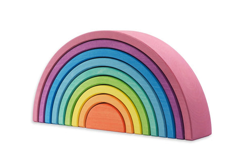Ocamora 9 Piece Wooden Rainbow Stacker (PINK)