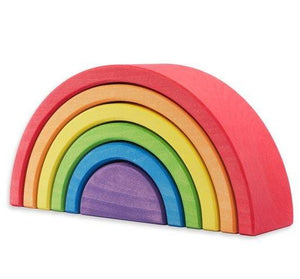 Ocamora 6 Piece Wooden Rainbow Stacker (RED)