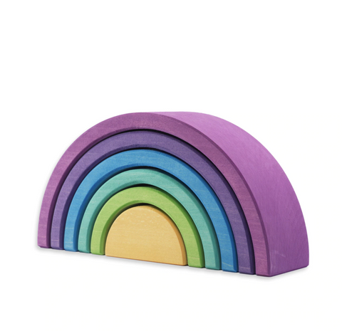 Ocamora 6 Piece Wooden Rainbow Stacker (PURPLE)