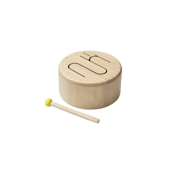 PlanToys Solid Wood Drum for Kids