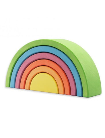 Ocamora 6 Piece Wooden Rainbow Stacker (GREEN)