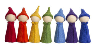 Rainbow Gnomes by Papoose Set of 7