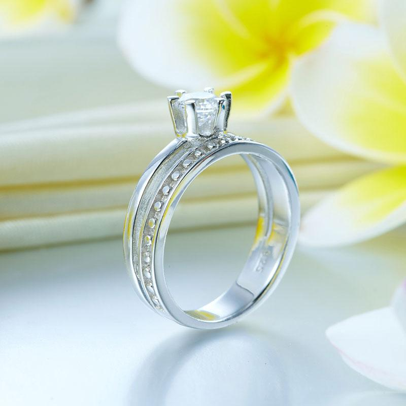 Solid 925 Sterling Silver Ring Fashion Party Jewelry
