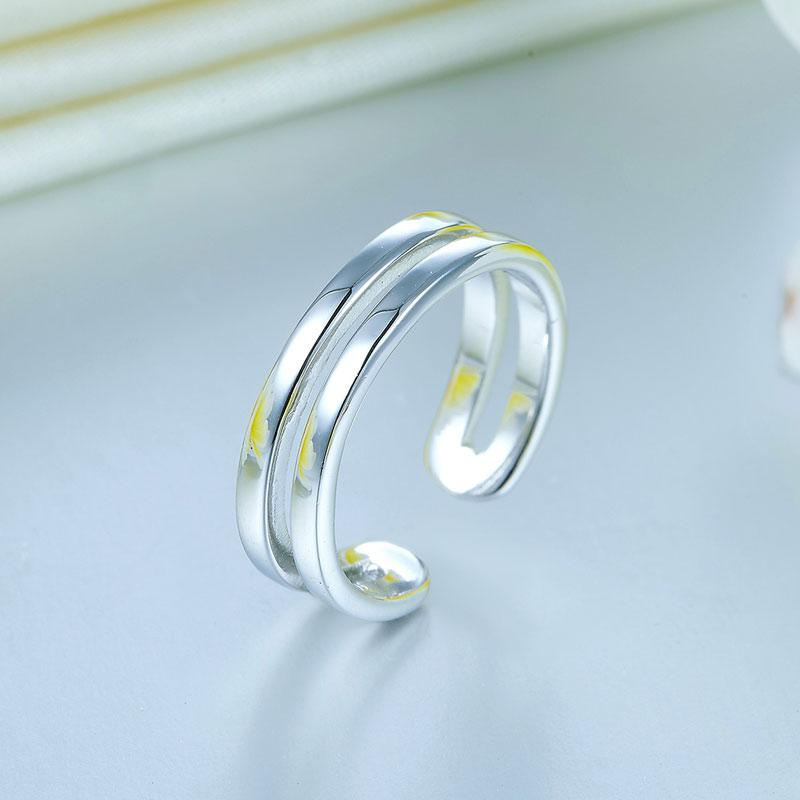 Kids Girls Solid 925 Sterling Silver Ring Band Children Jewelry Adjustable