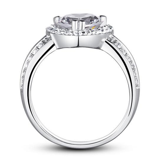 2 Carat Heart Cut Created Diamond 925 Sterling Silver Wedding Anniversary Ring