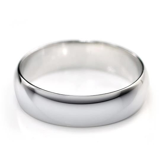 High Polished Plain Men's Solid Sterling 925 Silver Ring
