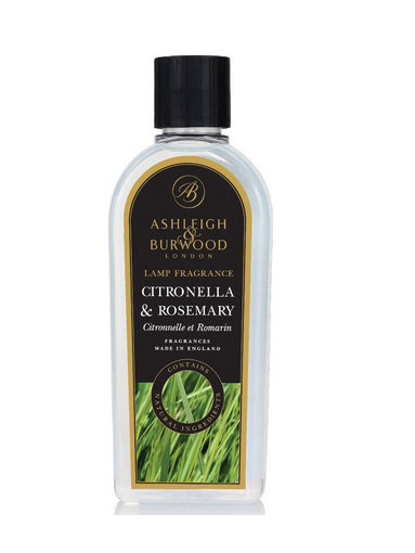 ASHLEIGH & BURWOOD GEURLAMP VLOEISTOF 500 ML CITRONELLA & ROSEMARY