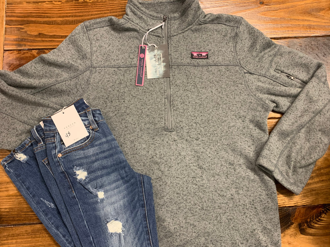 Simply Southern-Grey Knit Pullover