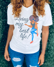 Load image into Gallery viewer, Living My Best  Life Women's Graphic T-Shirt | My Curvy Secrets