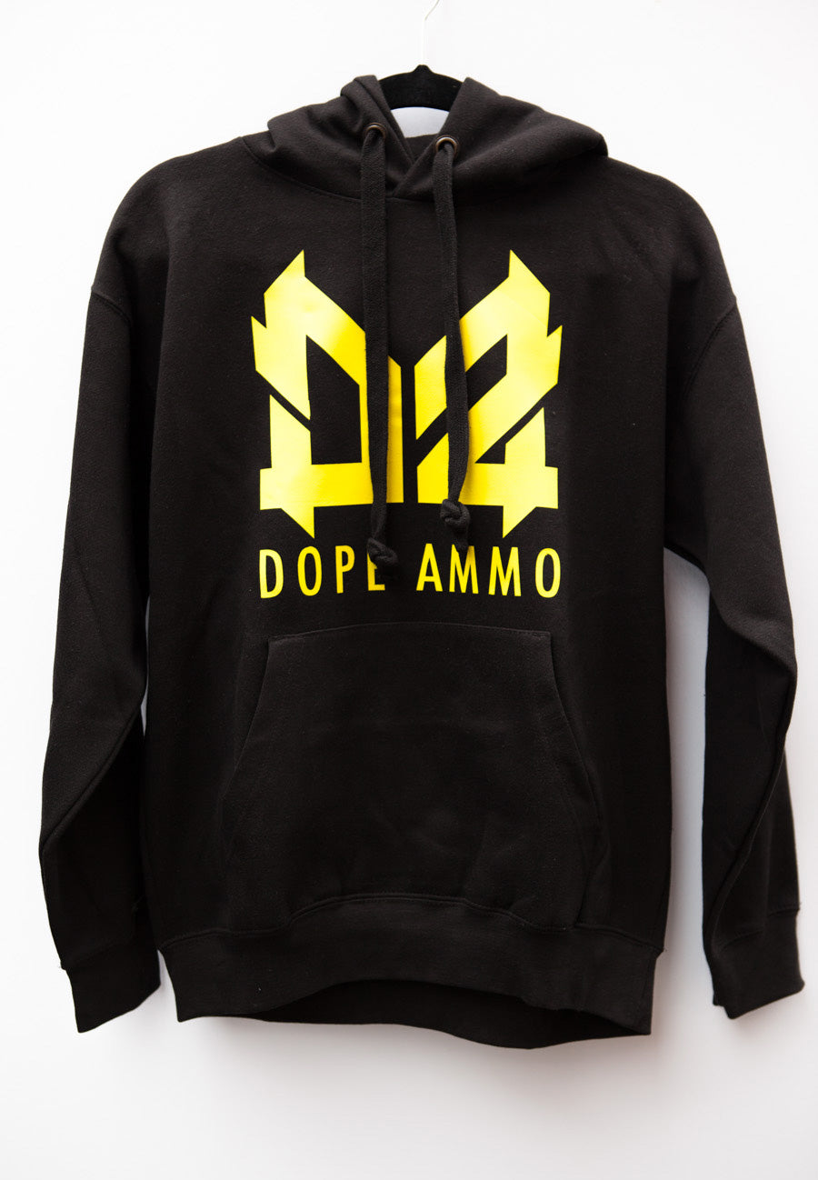 Dope Ammo Hoodie (Black with yellow print)