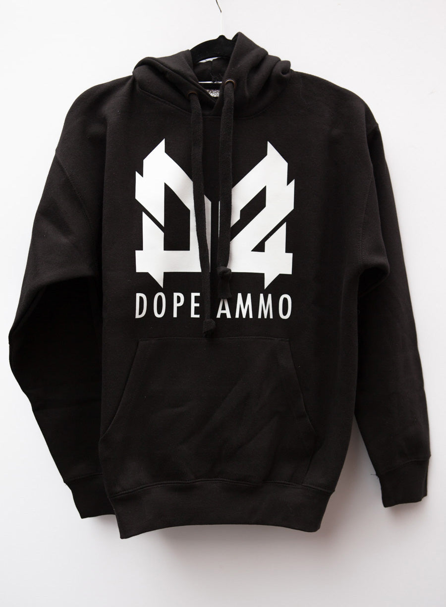 Dope Ammo Hoodie (Black with white print)