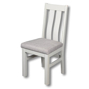 Elizabeth Twin Slat Grey Painted Chair