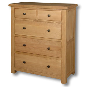 Manhattan Oak 2 Over 3 Deep Chest Drawers