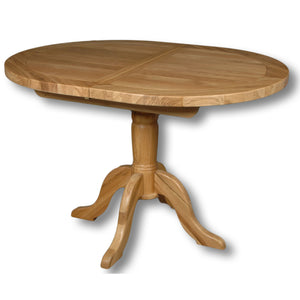 Manhattan Oak 1.2m - 1.5m Extendable Oval Table With 4 Natural Low Back Chairs