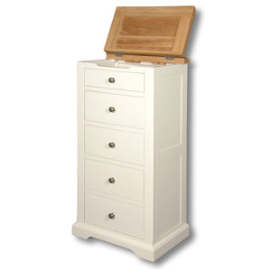 Rio Snow White Painted 5 Drawer Wellington