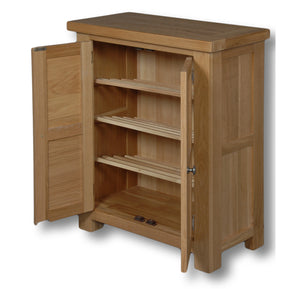 Richmond Oak 700mm Shoe Cabinet
