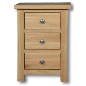 Richmond Oak 3 Drawer Bedside Table