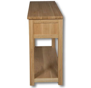 Richmond Oak 2 Drawer Large Console