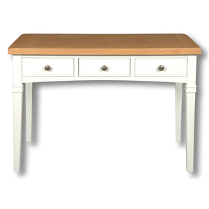 Rio Snow White Painted 3 Drawer Dressing Desk