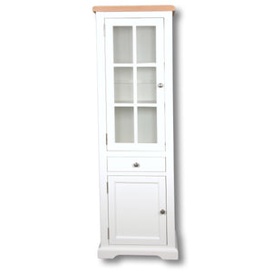 Rio Snow White Painted Small Display Cabinet
