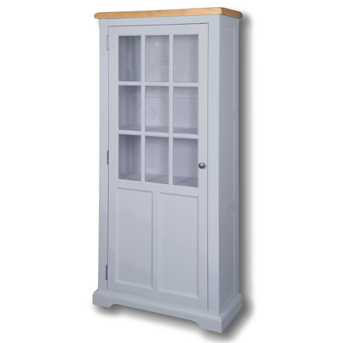 Rio Grey Painted Medium Display Cabinet