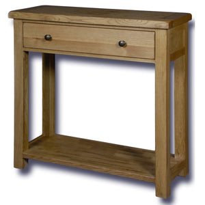 Manhattan Oak 1 Drawer Console