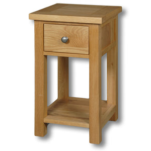 Richmond Oak 1 Drawer Bedside Table