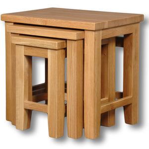 Richmond Oak Nest of 3 Coffee Tables
