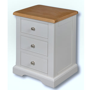 Rio Grey Painted Large 3 Drawer Bedside