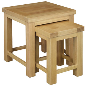 Richmond Oak Sofa Nest of 2 Tables
