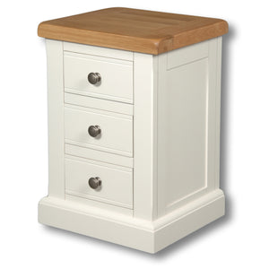Rio Snow White Painted Mini 3 Drawer Bedside