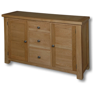 Richmond Oak 1150mm 2 Door 3 Drawer Sideboard