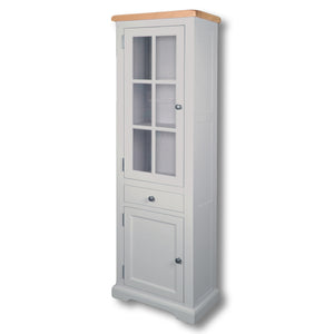Rio Grey Painted Small Display Cabinet