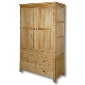 Richmond Oak 4 Drawer Double Wardrobe